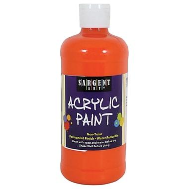 Sargent Art Non-Toxic 16 oz. Acrylic Paint, Orange (24-2414)