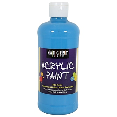 Sargent Art Non-Toxic 16 oz. Acrylic Paint, Turquoise (24-2461)
