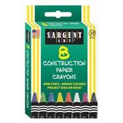 Sargent Art® 8 Piece Construction Paper Crayons