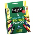 Sargent Art® 8 Piece Washable Big Ones Crayons Peggable Box