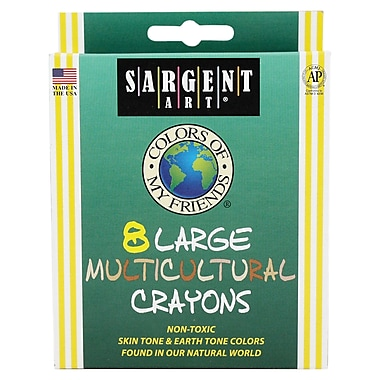 Sargent Art® 8 Piece My Friends Large Multicultural Crayons