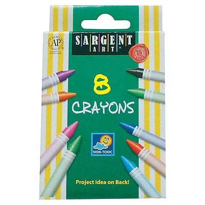 Sargent Art 8 Piece Tuck Box Crayons