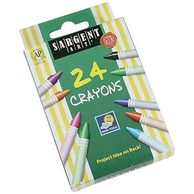 Sargent Art® 24 Colors, Tuck Box Crayons, 18/Pack