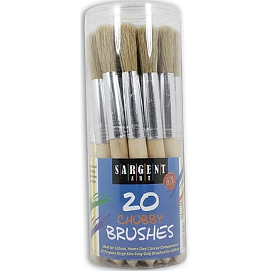 Sargent Art Wooden Handle Brush, 20/Pack (56-4000)