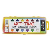 Sargent Art® Art-Time® 16 Semi Moist Watercolor Set With Brush, Assorted
