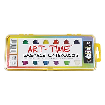 Sargent Art Non-toxic Watercolor Set With Brush, 12/Pack (66-8240) 273969