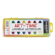 Sargent Art® Art-Time® 16 Semi Moist Washable Watercolor Set With Brush, Assorted