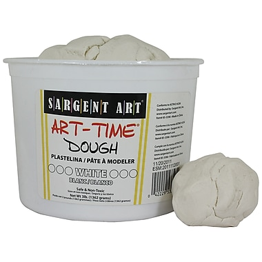 Sargent Art SAR85-3396 3 lbs. Art-Time Dough, White