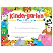 Trend Enterprises® Awesome Animals Kindergarten Certificate