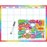 Trend Enterprises® Wipe-Off® Calendar, Colorful Brush Strokes