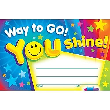 Trend Enterprises® Way to Go! You Shine! Recognition Award