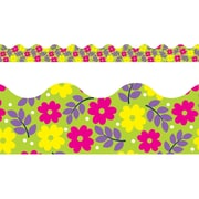 "TREND T92361 39' x 2.25"" Scalloped Pretty Petals Terrific Trimmer, Multicolor"