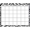 Teacher Created Resources® Zebra Calendar Chart, Classroom Management