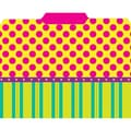 Top Notch Teacher Products File Folder, Pink Dots On Stripes