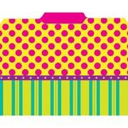 Top Notch Teacher Products File Folder, Pink Dots On Stripes