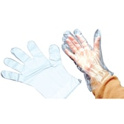 "Baumgarten BAUM64800 Clear Disposable Gloves, 9"" x 6.5"""