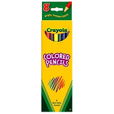 Crayola BIN4008 Assorted Colored Pencils, 8/Pack