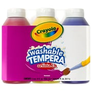 Crayola® Artista II® 8 oz. 3-Count Primary Color Set Tempera Washable Paint, Blue/Red/Yellow