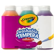 Crayola® Artista II® 8 oz. 3-Count Secondary Color Tempera Washable Paint Set, Green/Orange/Violet
