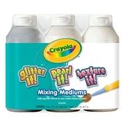 Crayola® 8 oz. 3-Count Tempera Mixing Medium Paint, Assorted
