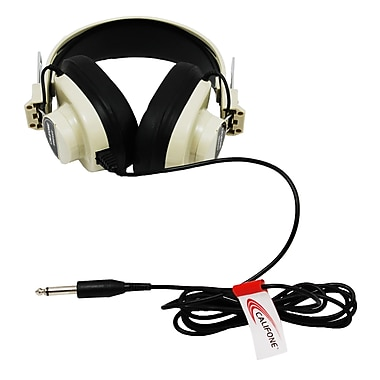 Califone 2924AV Over-Ear Headphone, Black/White