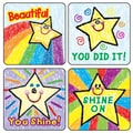 Carson Dellosa® Kid-Drawn Stars Motivational Sticker