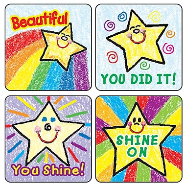 Carson Dellosa® Kid-Drawn Stars Motivational Sticker