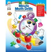 Carson Dellosa® More Minute Math Drills Resource Book, Grades 3 - 6