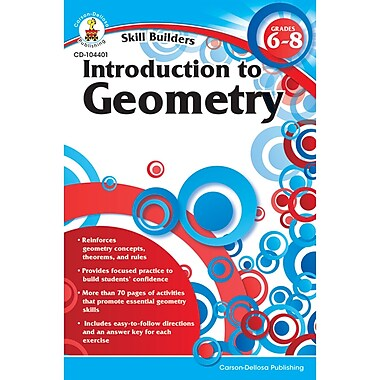 Carson Dellosa® Skill Builders: Introduction to Geometry Workbook, Grades 6 - 8