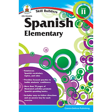 Carson Dellosa® Skill Builders Spanish Level 2 Book, Grades K - 5