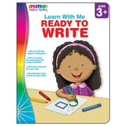 Carson Dellosa® Spectrum® Learn With Me Ready To Write Workbook, Grades Up To K