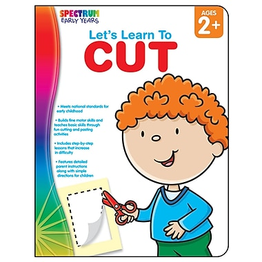 Carson Dellosa® Let's Learn to Cut Workbook, Grades Up To P