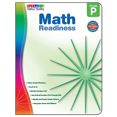 Carson Dellosa® Spectrum Early Years Math Readiness Workbook, Grades PreK