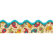 Carson Dellosa® Scalloped Border, 36(L) x 2 1/4(W), Paisley Power
