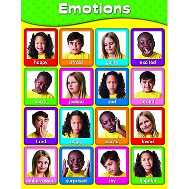 Carson Dellosa® Emotions Chart, Early Learning