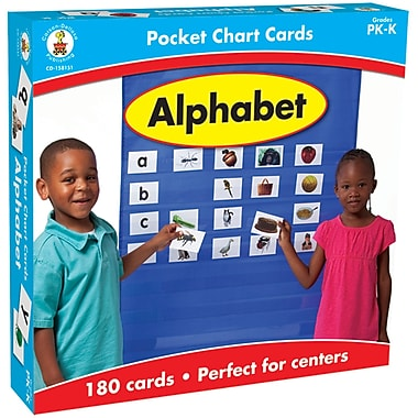 Carson Dellosa® Alphabet Pocket Chart Cards, 180/Pack