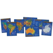 Carson Dellosa® Seven Continents Of The World Bulletin Board Set, Social Studies