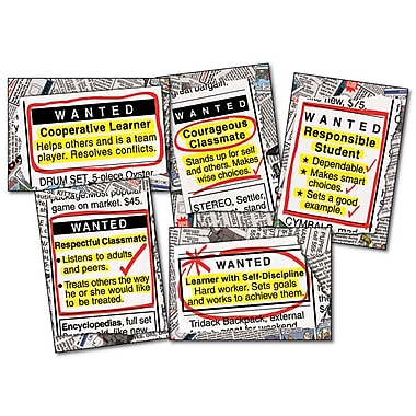 Carson Dellosa® Bulletin Board Set, Wanted: Good Character