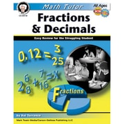 Carson Dellosa® Math Tutor: Fractions and Decimals Resource Book, Grades 4 - 8