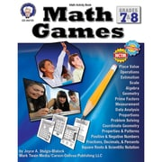 Carson Dellosa® Math Games Resource Book, Grades 7 - 8