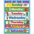 Carson Dellosa® Days of the Week Chart, Classroom Management, Grades 1-3