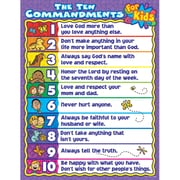 Carson Dellosa® The Ten Commandments For Kids Chart, Christian