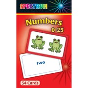 Carson Dellosa® Spectrum® Flash Card, Numbers 0 - 25