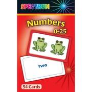 Carson Dellosa® Spectrum® Flash Card, Numbers 0 - 25