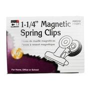 "Charles Leonard 1 1/4"" Magnetic Spring Clip, 24/Box"