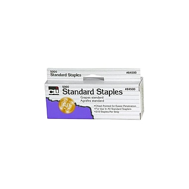 Charles Leonard Chisel Pointed Standard Staple, 5000/Box
