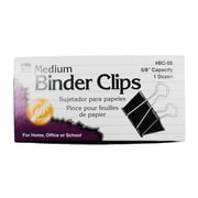 Charles Leonard Binder Clip, Medium, 12/Box