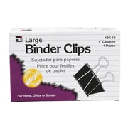 Charles Leonard Binder Clip, Large, 9/Bundle