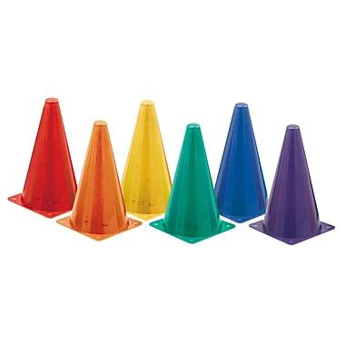 Champion Sports® Hi Visibility Plastic Cone Set, Fluorescent