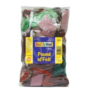 Chenille Kraft® Creativity Street® One Pound Felt, Assorted